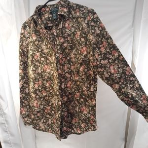 Button front blouse size M